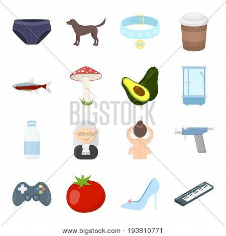 business, picnic, science and other  icon in cartoon style. hobbies, trade, ecology icons in set collection.