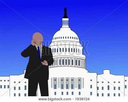 Senator On Phone
