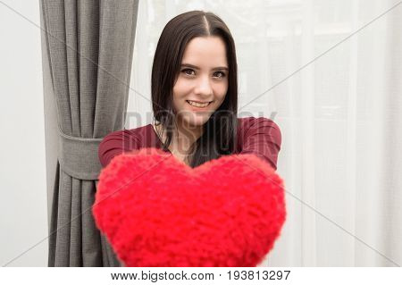 Young people will give each other heart on Valentine's Day.