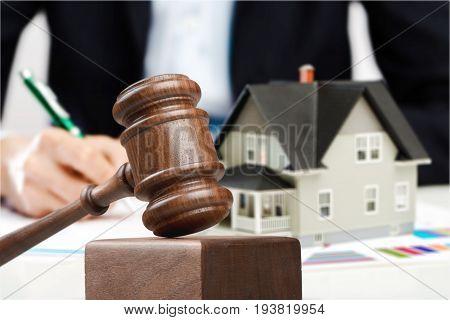 Toy house wood judge gavel object element