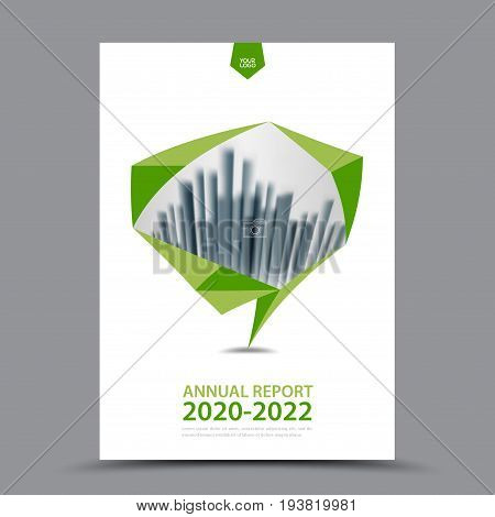 Green Brochure template layout cover design annual report magazine flyer or booklet in A4 magazine advertising poster leaflet business layout polygon vector illustration