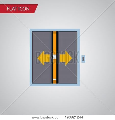 Isolated Elevator Flat Icon. Lobby Vector Element Can Be Used For Elevator, Door, Lobby Design Concept.