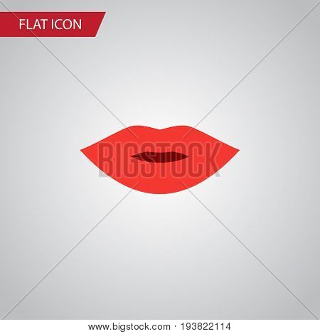 Isolated Lips Flat Icon. Pomade Vector Element Can Be Used For Lips, Pomade, Makeup Design Concept.