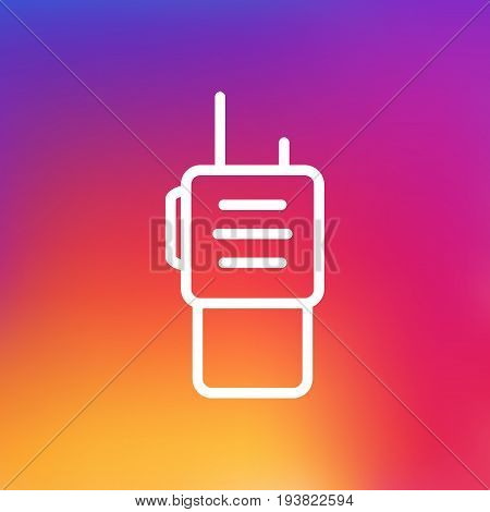 Isolated Remote Ratio Outline Symbol On Clean Background. Vector Walkie-Talkie Element In Trendy Style.