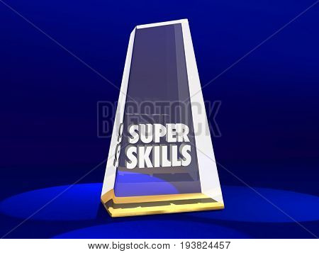 Super Skills Award Best Skilled Prize 3d Illustration