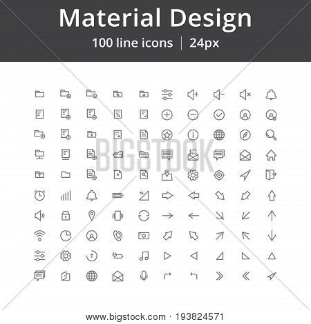 Simple material design icons, Icons for userinterface. Pixel perfect