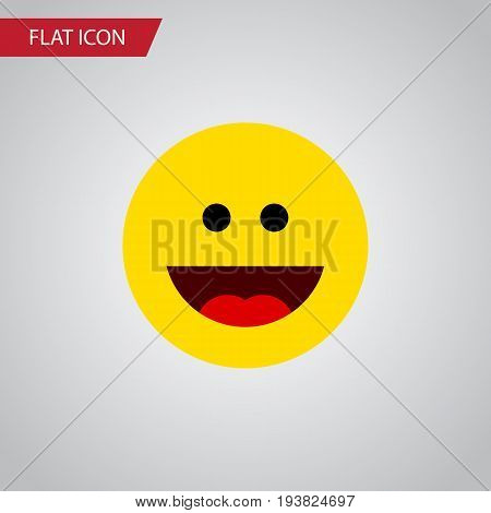 Isolated Grin Flat Icon. Laugh Vector Element Can Be Used For Laugh, Grin, Face Design Concept.