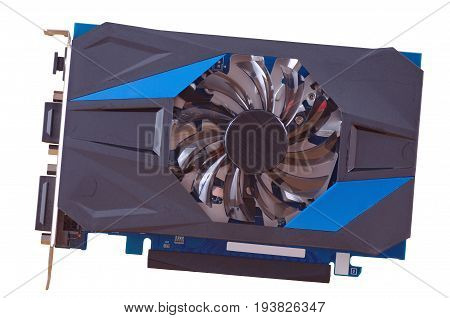The Video card isolated on white background.