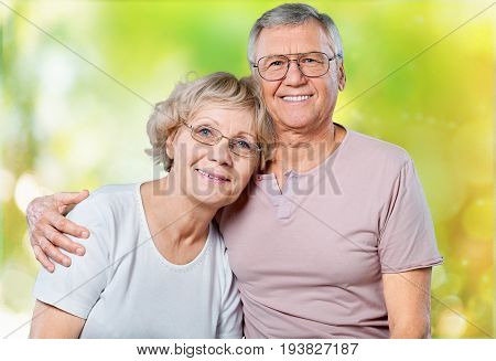 Smiling couple senior two people senior adult heterosexual couple years