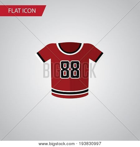 Isolated Uniform Flat Icon. T-Shirt Vector Element Can Be Used For Shirt, Uniform, Blouse Design Concept.