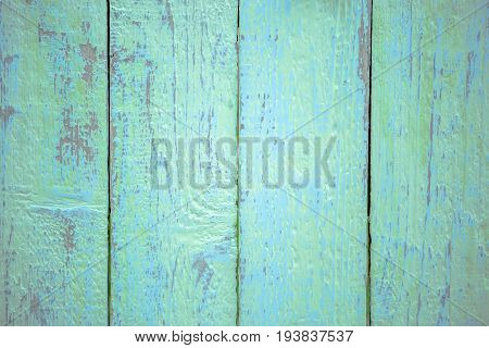 Photo of green and blue shabby wooden texture, board vertically