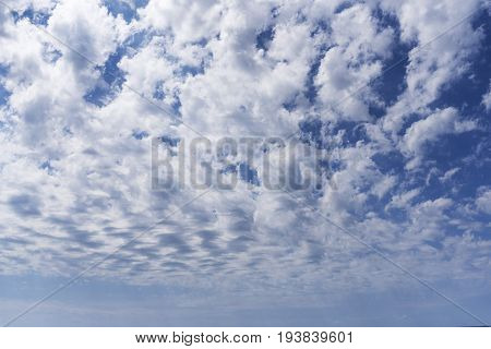 Summer Cloudy Sky Over The Black Sea, Natural Background