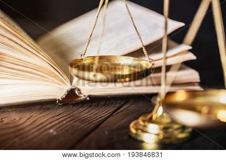 Justice scales background closeup business studio close