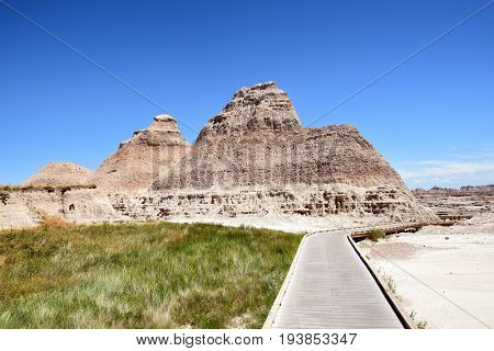 The Boardwalk Trail in the Badlands National Park, South Dakota.