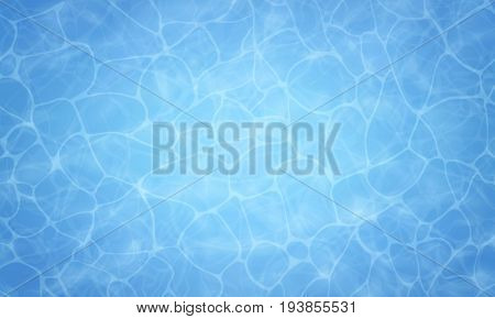 Summer background. Texture of water surface. Pool water. Overhead view. Vector illustration background.