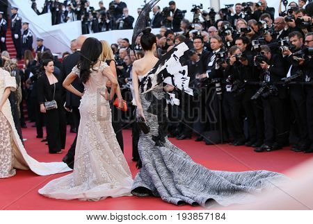 Lan Yan (English name Crazybarby Len Lan Yan) attends the 'Ismael's Ghosts (Les Fantomes d'Ismael)' screening and Opening Gala during the 70th Cannes Film Festival  on May 17, 2017 in Cannes, France.