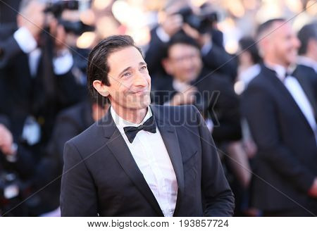 Adrien Brody attends the 'Ismael's Ghosts (Les Fantomes d'Ismael)' & Opening Gala Red Carpet Arrivals during the 70th annual Cannes Film Festival at on May 17, 2017 in Cannes, France.