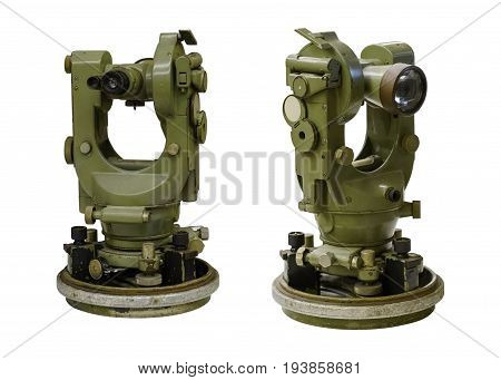 image of theodolite isolated on white background