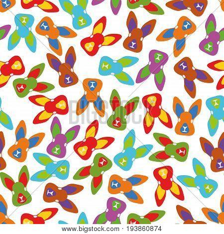 Illustration Seamless Pattern Easter Bunny