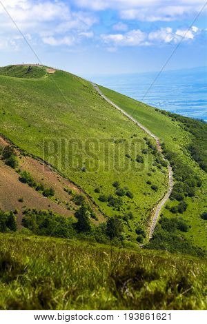 Puy Pariou And Footpath In Auvergne