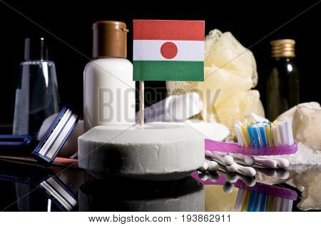 Niger Flag In The Soap With All The Products For The People Hygiene