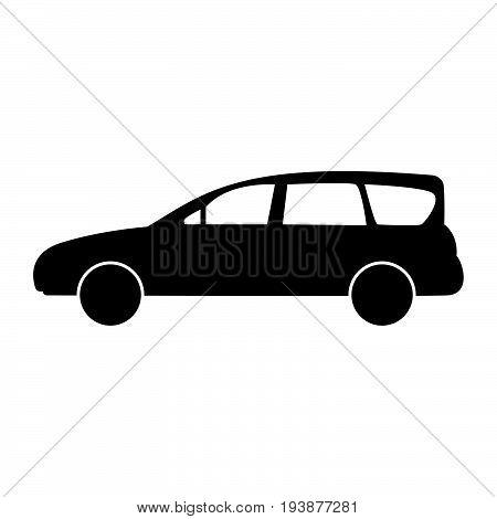 Family Car The Black Color Icon .