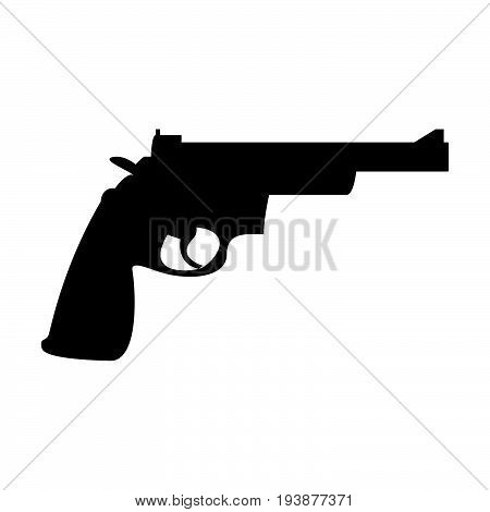 Gun Revolver The Black Color Icon .