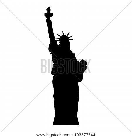 Statue Of Liberty The Black Color Icon .