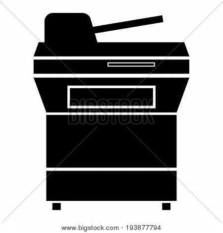 Multifunction Printer Or Automatic Copier The Black Color Icon .