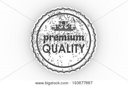 Stamp icon. Graphic design elements. 3D rendering. Premium quality text