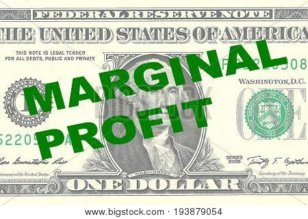 Marginal Profit - Financial Concept