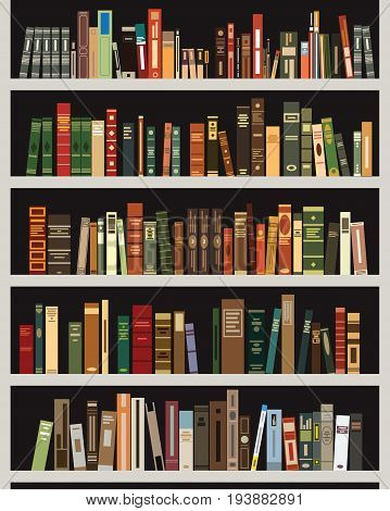 vector illustration of the bookshelf. vector bookshelf