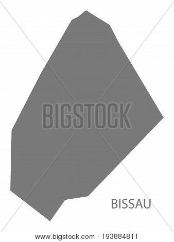 Bissau Guinea-Bissau map grey illustration silhouette shape