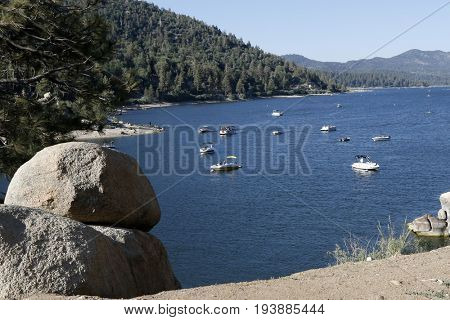 LOS ANGELES - JUL 1:  Big Bear Lake at the Scenic view at  BIg Bear Lake on July 1, 2017 in Big Bear, CA