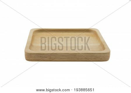 Wood Plate Isolated