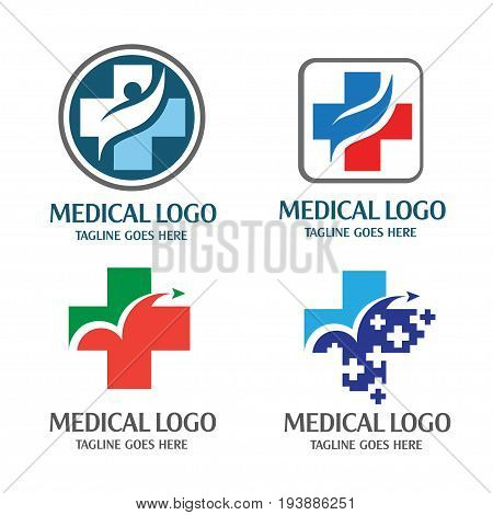 Medical logo concept,Simple, modern and eye-catching, best cross, health logo
