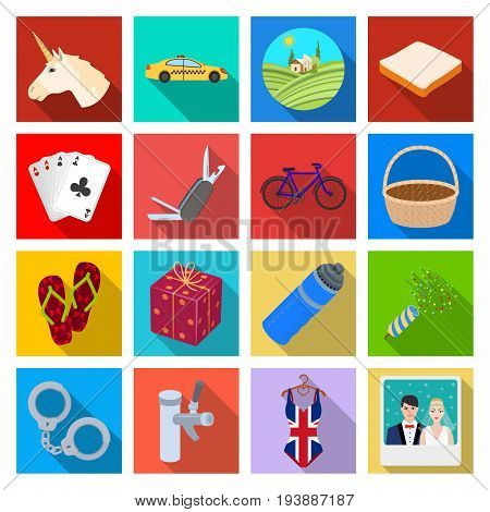 industry, entertainment, casino and other  icon in flat style.leisure, commerce, business, icons in set collection