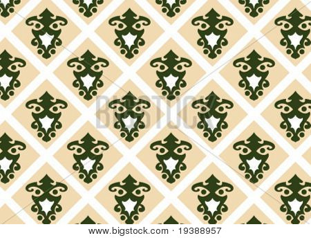 a seamless vector wallpaper in earth and green tones, check my portfolio for more great vectors!