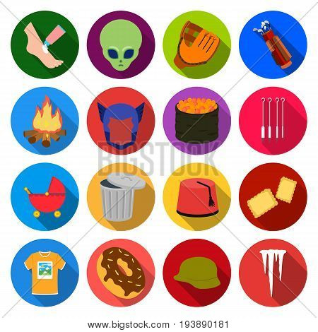 tourism, ecology, businessand other  icon in flat style., Icicle, Dima, rest icons in set collection
