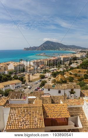 View Over The Costa Blanca From The Overlook Point In Altea
