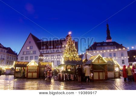 Yearly christmas market in Tallinn, Estonia