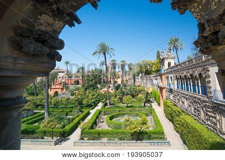 Gardens Of The Alcazar, Seville, Andalucia, Spain