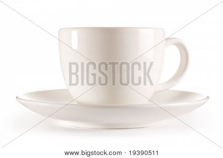 Isolated tea cup