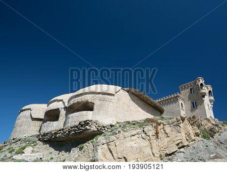 Tarifa Castle Of Guzmán El Bueno With Defensive Towers -spain, Costa Del Sol