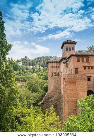 Granada, Spain - Alhambra Palace And City Of Granada