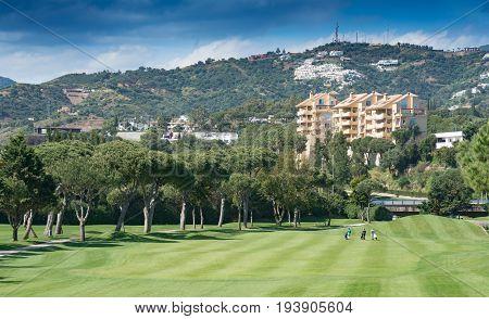 Golf Course, Marbella On The Costa Del Sol, Spain