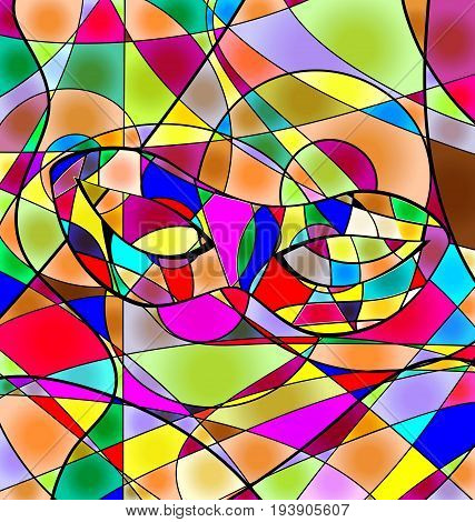 abstract colored background carnival mask image consisting of lines