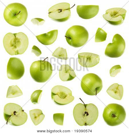 Isolated apple collection