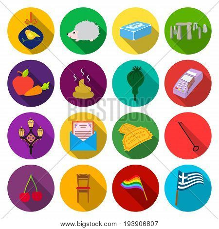 tourismholiday, post, industry and other  icon in flat style.trade, business, nature icons in set collection.