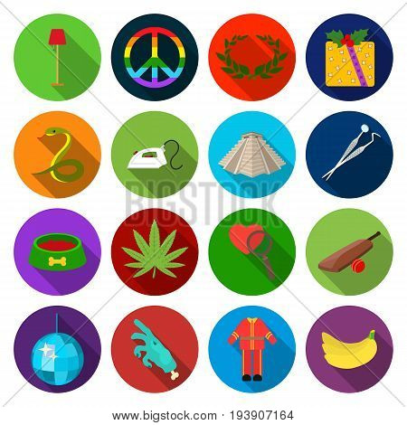 sports, ecology, history and other  icon in flat style.hobby, business, buffet icons in set collection.
